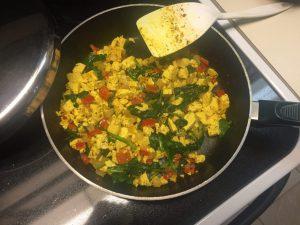 tofu scramble veggies