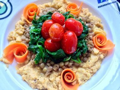 lentil & blistered tomato polenta